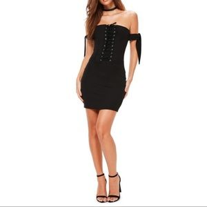 Missguided Dresses - Missguided Black Corset Bodycon Dress